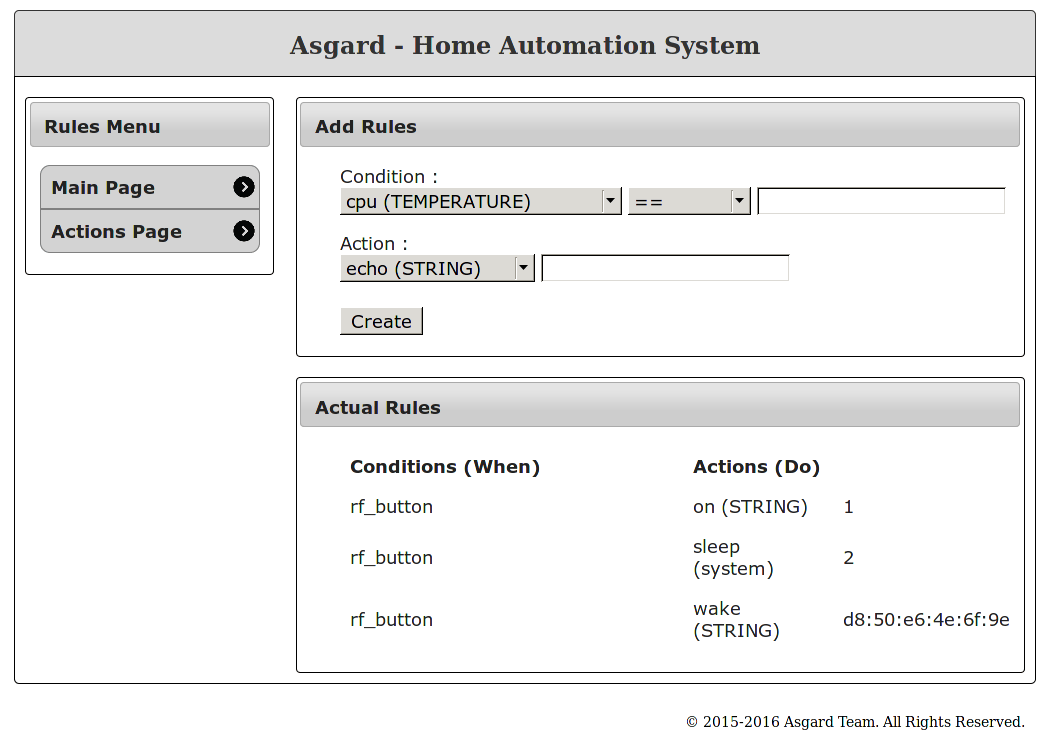 Asgard automation system rules page