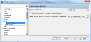 Configure the OSGi instance for the project